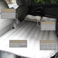 Perle rare Lit gonflable pour voiture Matelas de couchage pour voiture Coussin d'échappement central et arrière Lit de voyage Gris