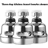 Perle rare Tête de robinet de cuisine - Robinet pivotant à 360° - Tête de pulvérisation - Robinet anti-éclaboussures Booster - Robinet pour cuisine
