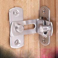 Perle rare Le verrou de la porte 90 Verrouiller la porte Verrouillage de la porte à angle droit en bas(S)