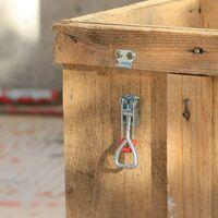 Perle rare Métal Sauterelles de Menuisier Grenouillère à Levier, Lot de 6 Loquets de Serrage Verrou Porte Décharge Rapide (S)