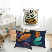 Set de 1Housse de Coussin, Taies d'oreiller Décoratives en Lin, couvre-oreiller intérieur extérieur imperméable, Housse de Coussin pour banc canapé salon décor 45 x 45 cm (Plante)