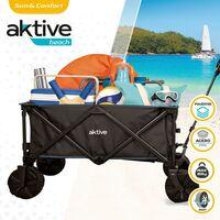 Chariot de plage pliable Aktive Beach avec roues spécial pour le sable avec une charge de 50 kg