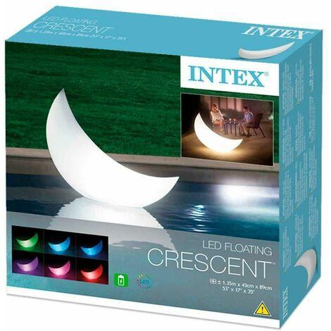 Intex 68693 Led Floating Halfmoon Garden Lamp/Light Crescent