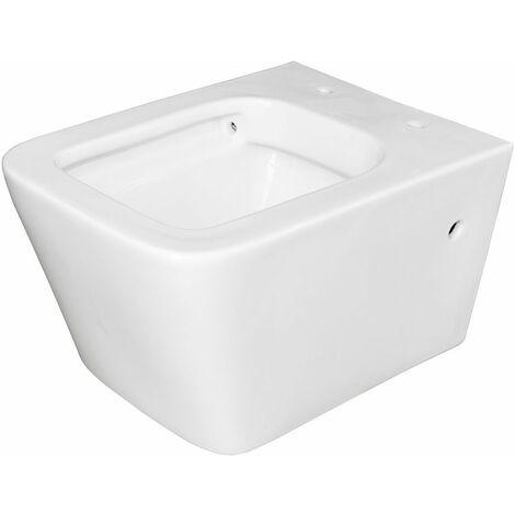 Sanlingo WC Cuvette Toilette Suspendue sans Bride Murale Jante