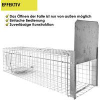 Piège à Animaux Humaine Animal Vivant Piège 120 x 34 x 34 cm Renard Cage Chat Castor Raton Laveur Petigi