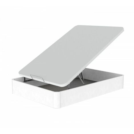 Pack Canape Abatible Madera 090x190 Blanco + colchon CONFOR 20 + almohada de regalo