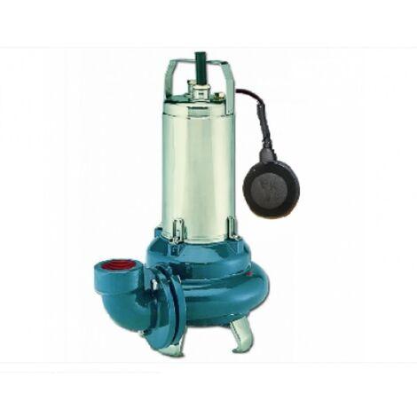 Lowara DLVm100 CG Automatique avec flotteur pompe de relevage évacuation eaux chargées pour la vidange de fosse septique et égout Roue Vortex Monophasé 1,1Kw