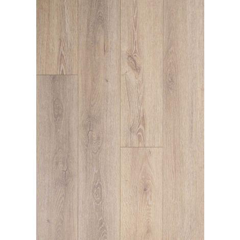 Lame vinyle rigide clipsable avec sous couche intégrée- Megève - Teinte chêne Greige   1.56 mètre carré