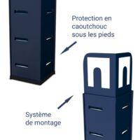 Estantería modular de almacenamiento de metal - Carga hasta 875kg - 180 X 60 X 45 cm - Azul - Azul