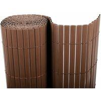 Cañizo PVC doble cara (Chocolate). Varias medidas - 1x3 metros -