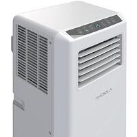 RADIOLA RACLI090E -  Climatiseur mobile - 9000 Btu - 2,64 kW - 320 m3/H - Déshumidificateur - Programmable - 2 Vitesses - Télécommande