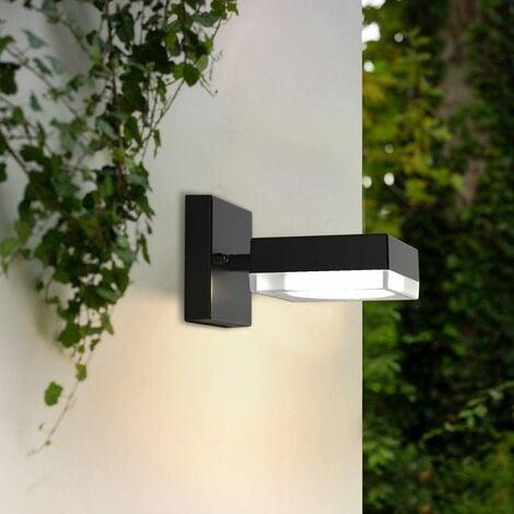 Applique extérieure 230V carrée VENGE à ampoule interchangeable GX53 (non fournie) et tête orientable - Grise anthracite