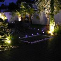 Spot led RGB+CCT (multicouleur + blancs chaud et froid) encastrable 12V abords Piscine- Inox 316- Diam 10 cm