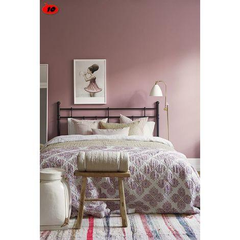 Peinture murale sans odeur /couleur : vieux rose / qualité professionnelle application facile, séchage rapide / MadeInNature®  | 0.5 litre pour 6 m², soit 3 m² pour 2 couches