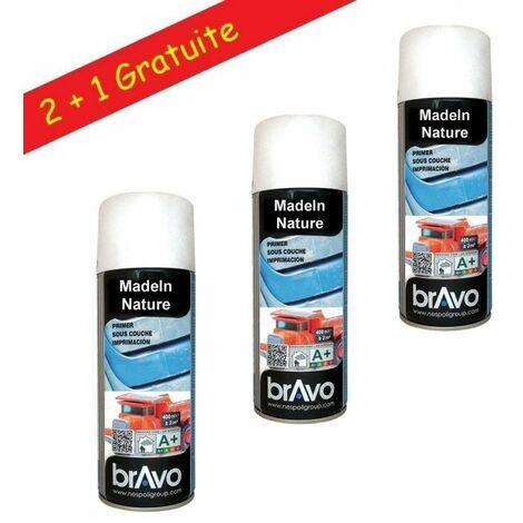 Lot de Bombes de Peinture, Spray Peinture d'Impression pour Plastique, 400 ml, de MadeInNature - Lot de 3.
