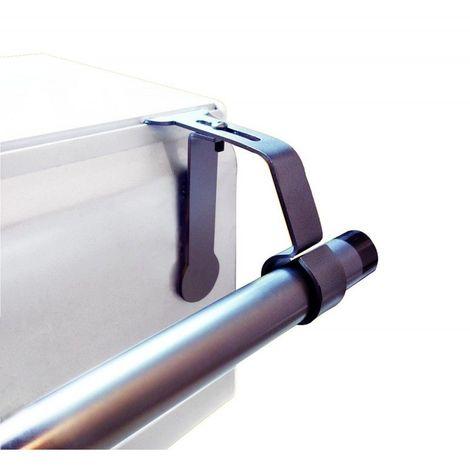 1 Support de Tringle à rideaux Ø25 à 28 mm sans perçage pour coffret volet roulant Coloris - Nickel mat - Nickel mat