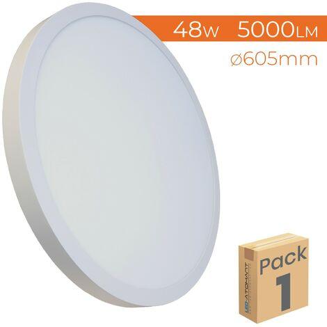 Plafón LED Circular Panel Superficie 48W 5000LM 605mm A++ | Pack 1 Ud. - Blanco Frío 6500K