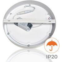 Plafón LED Circular Superficie 20W 1800LM 220mm   Pack 1 Ud. - Blanco Frío 6500K