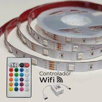KIT Tira LED RGB Wifi 5M 12V 14,4W/m 120LED/m Corte 10cm | Pack 1 Ud. - Pack 1 Ud.