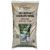 EASYBIO Décoration coquillier marin - paillage naturel spécial pots, 8kg