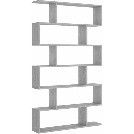 Estanteria Alta -Cemento- 190 x 80 x 25 cm, Estantería colgante, Estante pared cocina, Estantería pared, Estantes dormitorio, Estantería libreria