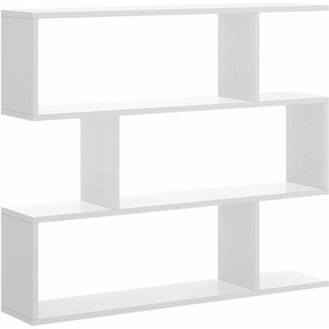 Estanteria Baja -Blanco Brillo- 96 x 110 x 25 cm, Estantería colgante, Estante pared cocina, Estantería pared, Estantes dormitorio, Estantería libreria