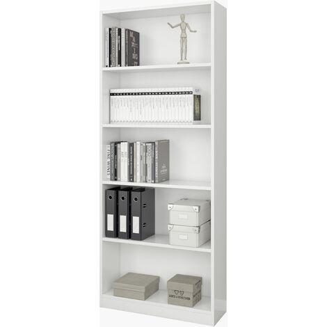 Estantería blanca gran capacidad grande 201x80x28cm, Estantería colgante, Estante pared cocina, Estantería pared, Estantes dormitorio, Estantería libreria