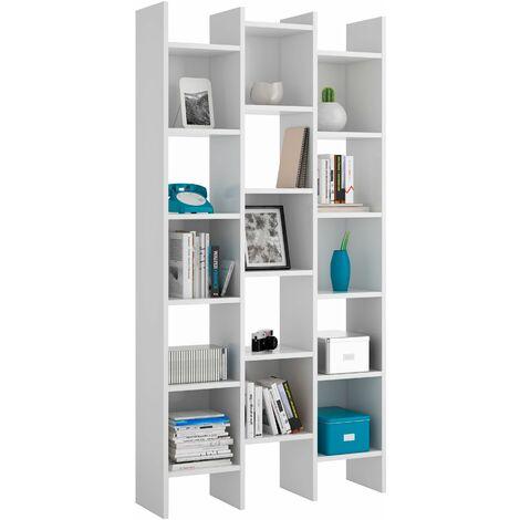 Estantería alta Blanco Artik 19x96x25 cm, Estantería colgante, Estante pared cocina, Estantería pared, Estantes dormitorio, Estantería libreria
