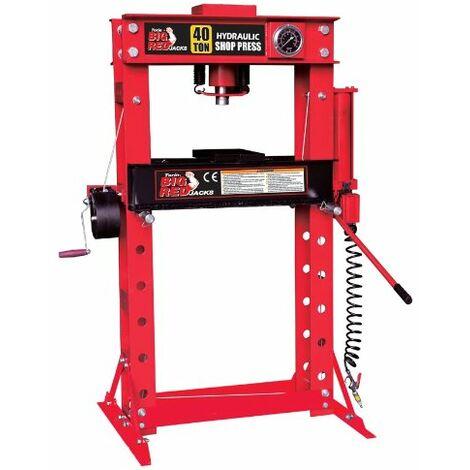 Presse hydraulique d'atelier 40 tonnes, manuelle et pneumatique