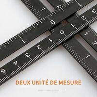 COOFIX Multi modèle 12 règles pliantes règle d'angle de mesure avec guide de forage tuiles de verre mètres outil de travail du bois