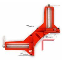 COOFIX 90 degrés Pince d'angle Pince de cadre de travail du bois à Angle droit DIY Glass