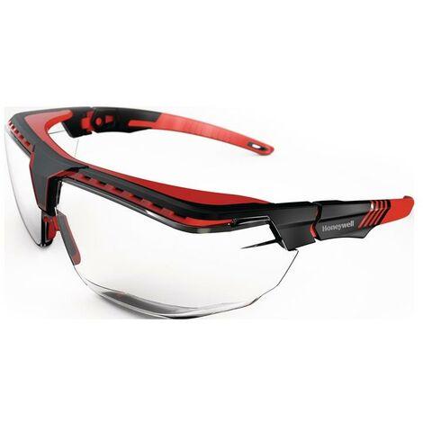 Honeywell Schutzbrille Avatar OTG PSA-Kategorie II Bügel schwarz/rot, Scheibe klar Polycarbonat