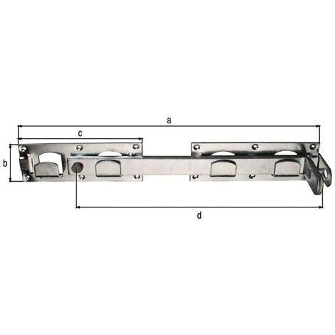 Doppeltorüberwurf links / rechts verwendbar 430x70x180x333mm Loch-Ø5 mm 12