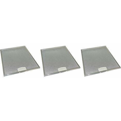 3 x Universal Cooker Hood Metal Grease Filter 284mm x 352mm