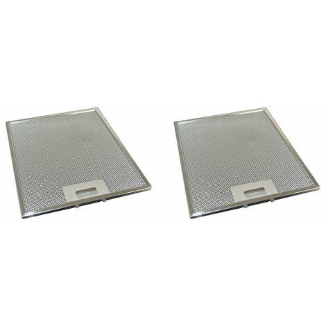 2 x Universal Cooker Hood Metal Grease Filter 258mm x 318mm