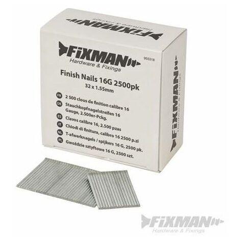 Finish Nails 16G 2500pk - 32 x 1.55mm
