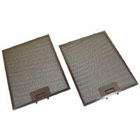 2 x AEG Universal 320 x 260 mm Metal Cooker Hood GREASE FILTER