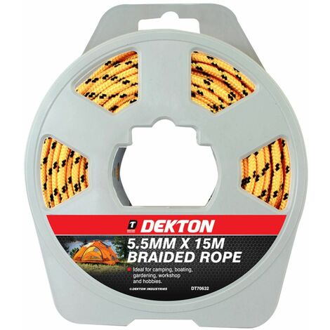 Dekton DT70632 5.5mm X 15m Polypropylene Braided Rope