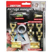Dekton DT70534 Picture Hanging Kit Includes Hooks, Nail, Spirit Level