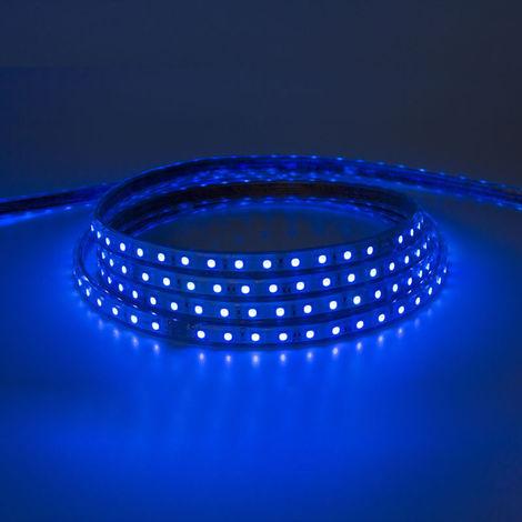 Tira led smd 5050 220v ip65 rgb 60 chips 9w/m