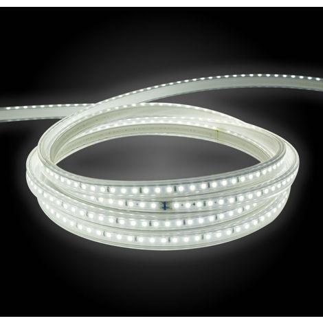 Tira led 2835 220v ip65 120 chips 9 w/m nav alta luminosidad 4000k blanco neutro 1 metro