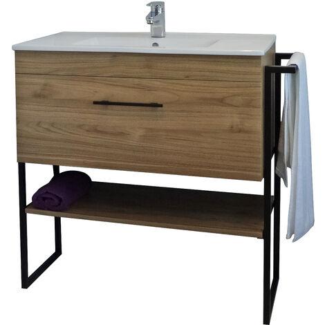 Mueble de baño 1DUS madera Dimensiones 91x46x88 cm