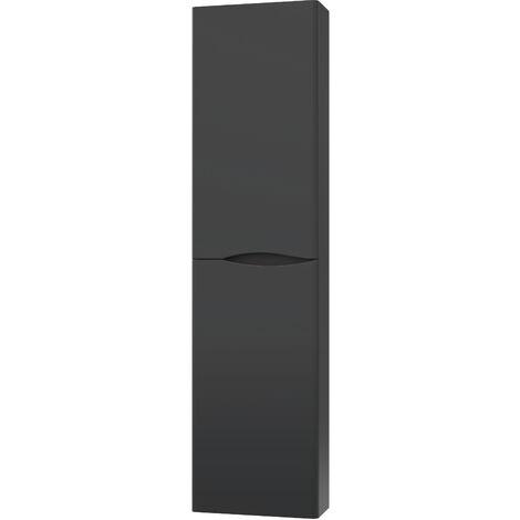 Columna de baño negra 2DOO tacto suave Dimensiones 40x17x155 cm