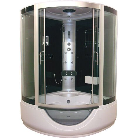 Cabina 136X136 con hidromasaje FARO con Banera Dimensiones : 136x136x230 cm