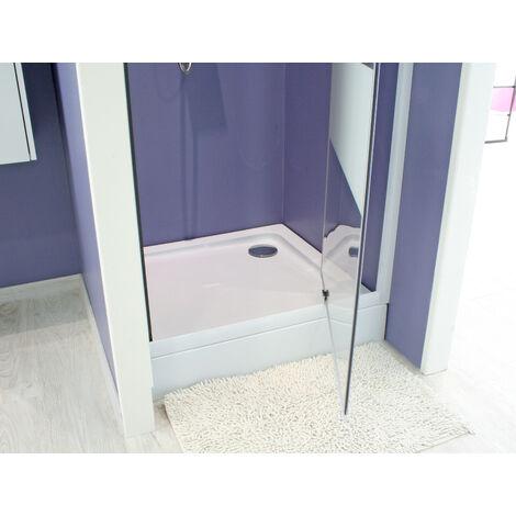 Plato de ducha alto en acrilico LARY 80X80 Dimensiones : 80X80X13,7 cm