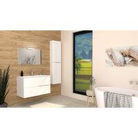 Columna de baño blanca 2DOO tacto suave Dimensiones 40x17x155 cm