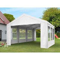 Carpa para fiestas 3x6 m en blanco lona PE 180 g/m² impermeable carpa para el jardín con protección UV - bianco