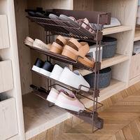 Emuca Porta scarpe laterale estraibile per interno armadio