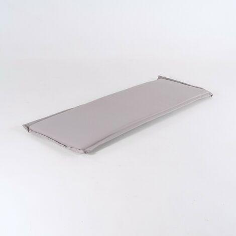Coussin de banc d'extérieur standard couleur de la pierre   Dimensions: 140x49x5 cm   Résistant aux gouttes d'eau - Pierre