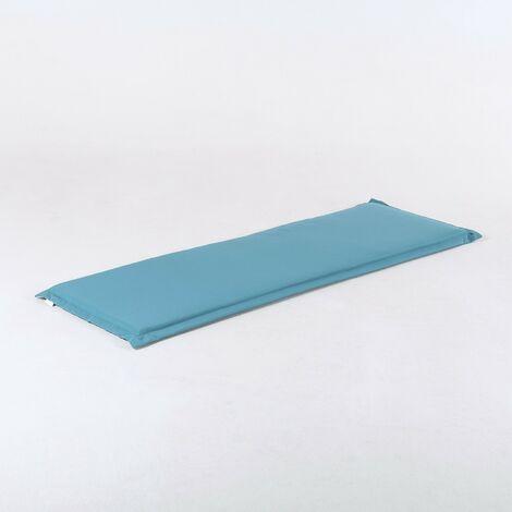 Coussin de banc d'extérieur standard couleur  en turquoise standard   Dimensions: 150x49x5 cm  Résistant aux gouttes d'eau